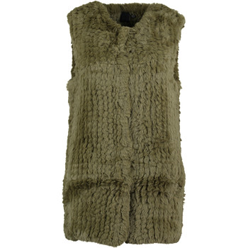 Olive Green Faux Fur Gilet
