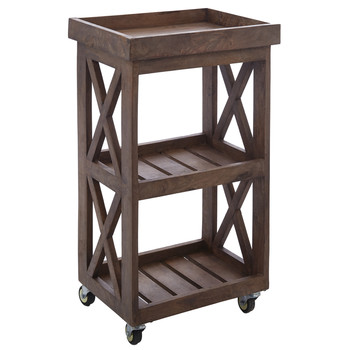 Three Tiered Wooden Storage Unit