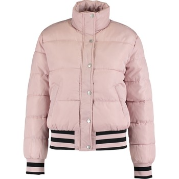 Nude striped quilted jacket