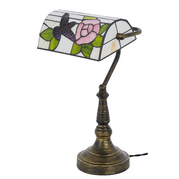 Brown Floral Table Lamp