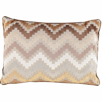 Brown Zig Zag Striped Cushion