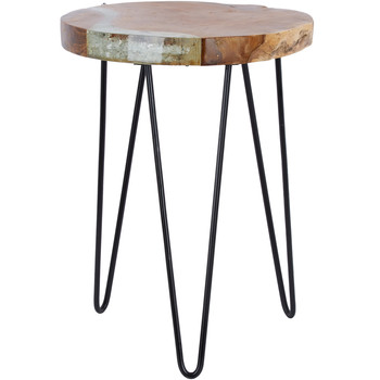 Icy Wooden Side Table