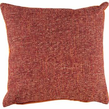 Rust Boucle & Velvet Cushion